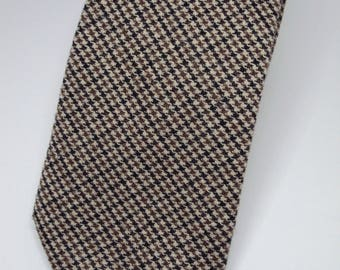 L L Bean Wool Tweed Plaid Necktie