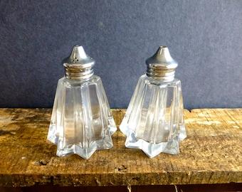 Vintage Cruet Set - Salt & Pepper Shakers