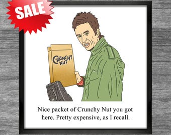 Peep Show Print | Super Hans | Nice packet of Crunchy Nut you got here Pretty expensive as I recall
