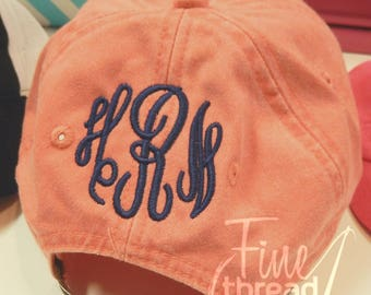 Add On Monogram Embroidery to the Back of Any Purchased Hat from Our Shop Sewn On