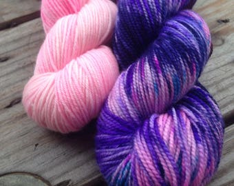 Electric Cherry on merino/nylon sock