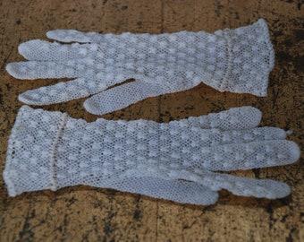Gloves for children crochet handmade from the 1950s