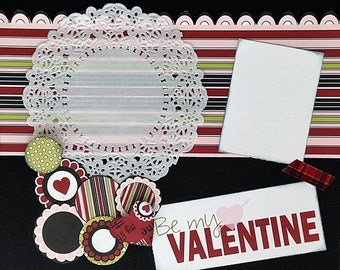 Scrapbooking Layout Valentine 12x12  Kit