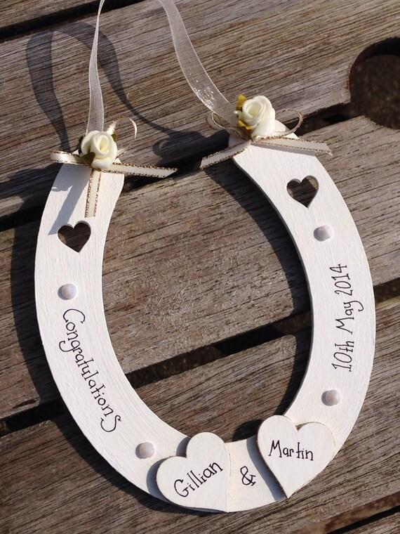 cadeau de fer cheval personnalis mariage chanceux decoration suspendre - Cadeau Cheval