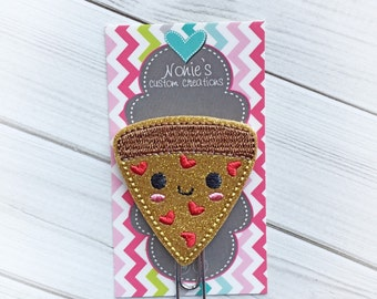 Pizza Paper Clip - Pizza Paperclip - Planner Accessories - Pizza Feltie- Planner Paper Clips - Planner Accessory