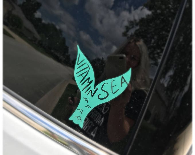 Mermaid Tail Vitamin Sea Decal