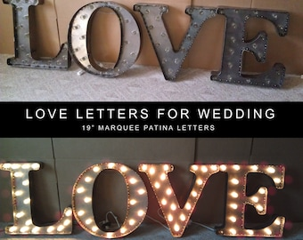 "19"" Tall Steel Marquee Word"