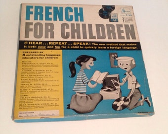 Vintage 1957 French For Children by Cabot