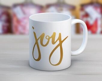 Joy // Holiday Christmas // 11 oz or 15 oz Coffee Mug