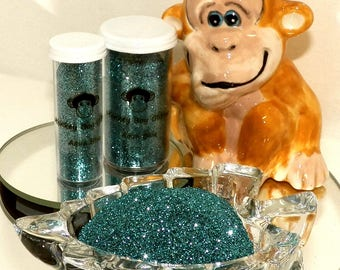 Aqua Blue Extra Fine Glitter 0.008 - Many Colors Available - 2 Sizes - Visit Our Shop! B-42