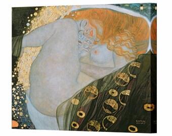 Gustav Klimt Danae Canvas Wall Art Print Ready To Hang Home Decor