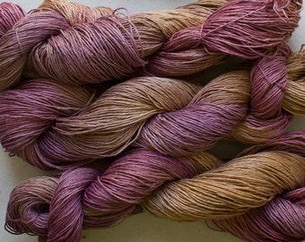 Linen 16/4, Hand painted yarn, 300 yds - Sandstone