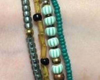 4-in-1 Green and Gold Mega Bracelet