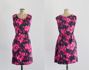 60s Shift Dress - Vintage Floral Dress - Sweetest Perfection Dress