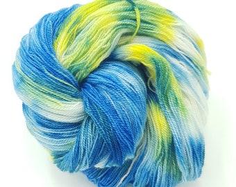 Hand Dyed Laceweight Super Fine Falkland Wool - Beachside