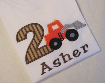 Front Loader Truck Birthday T-Shirts and Bodysuits