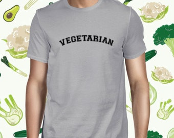 Animal Lover Men's T-shirt - Vegetarian Statement Tee Shirt - Plant-based Tshirt for Men - Animal Rights Tee Shirt - Vegan Men's Tee Shirt