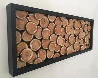 tree slice wall decor