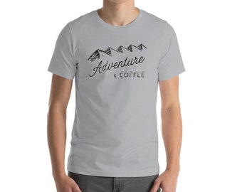 Adventure and Coffee Men's Distressed Look T-Shirt