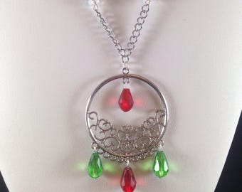 Christmas chandelier necklace