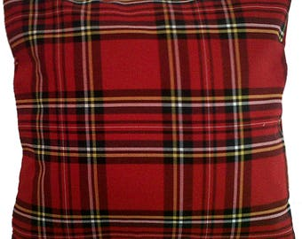 Red Royal Stewart Tartan Check Cushion Cover Various Sizes Available