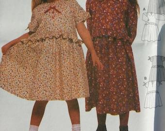 Girls Dress Pattern Burda 2910 Kleid Vestico Pattern Girls groben tailles euro 92-122 Size 2-7