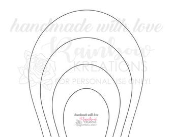 DIY: Flower Template #6 - Instant Downloadable File
