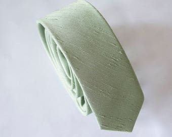 sage green tie and pocket square for men,mens tie,sage green weddings,sage green accessories,sage green fabric