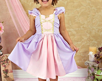 RAPUNZEL costume dress  princess dressfor toddlers and girls fun for special occasion or birthday party costume