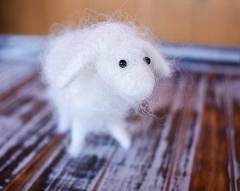 CUSTOM MADE // Needle Felted Animals // Alpaca Fiber Felted Animal // Hand felted // animal figurine // felted miniature // stuffed animal