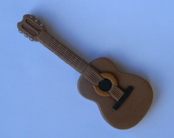 1 edible 3D ACOUSTIC GUITAR Instrument bass acoustic cake decorating music wedding topper decoration wedding anniversary birthday engagement