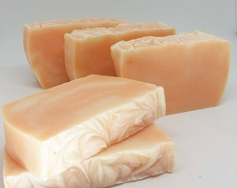 Tangerine Soap, Handmade soap,  CP soap, Cold Process Soap, Fathers Day, Citrus Scent Soap, Gift Soap,Wedding Favor, Party Favors, Man Soap