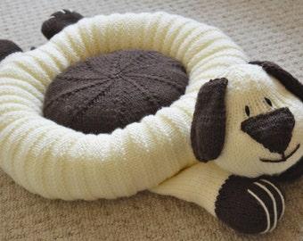 Dog Bed Knitting Pattern, Pet Bed Knitting Pattern, Dog Knitting Pattern, Novelty Pet Bed Knitting Pattern