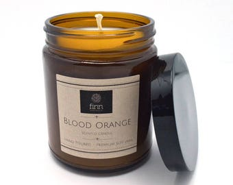 Hand Poured Premium BLOOD ORANGE Scented Soy Candle ~ So Fresh ~ 9 oz