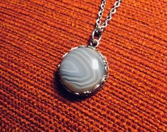 Lake Superior Agate Pendant Necklace