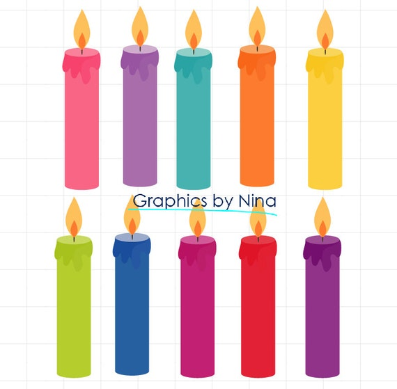instant dowload birthday candles clipart birthday clipart scrapbook rh etsystudio com birthday cake candles clipart birthday candles clipart free