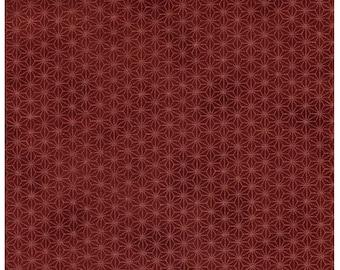 HALF YARD - STOF Fabrics - Glimmering - Asanoha Copper Metallic on Brown - 4592-303