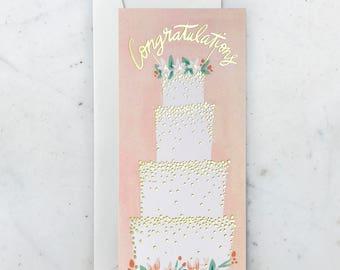 Congratulations Cake Greeting Card