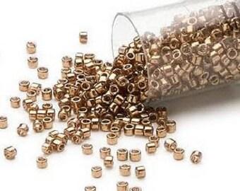 Delica Seed Beads 11/0 Metallic Light Bronze