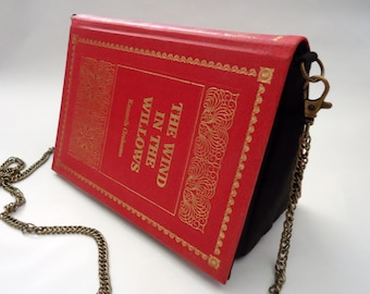 The Wind in the Willows Book Purse Red Bag Clutch - Upcycled Book