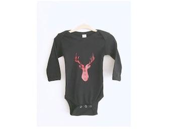 Baby bodysuit- Deer antlers baby bodysuit