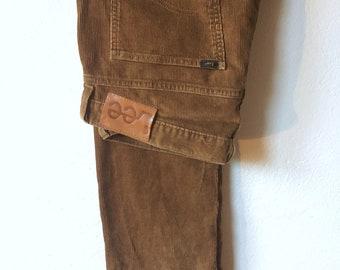 Vintage corduroy brown Lee Pants, 90's, W34 L32