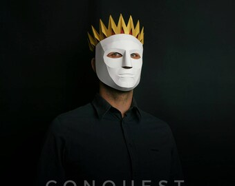 CONQUEST : Four Horsemen Halloween Apocalypse  Mask and Crown Set. Pestilence