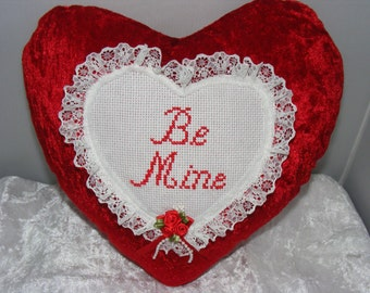 Valentine heart shaped cushion.