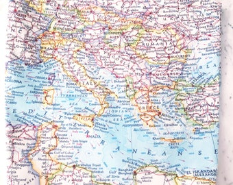 Mediterranean Map Tote - Mediterranean Tote Bag - Mediterranean Bag - Mediterranean Tote - Wanderlust Tote - Gift for Traveler