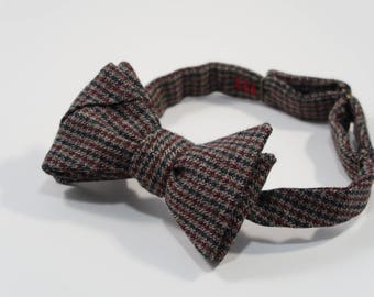 Thick Soft Brown Tweed Bow Tie