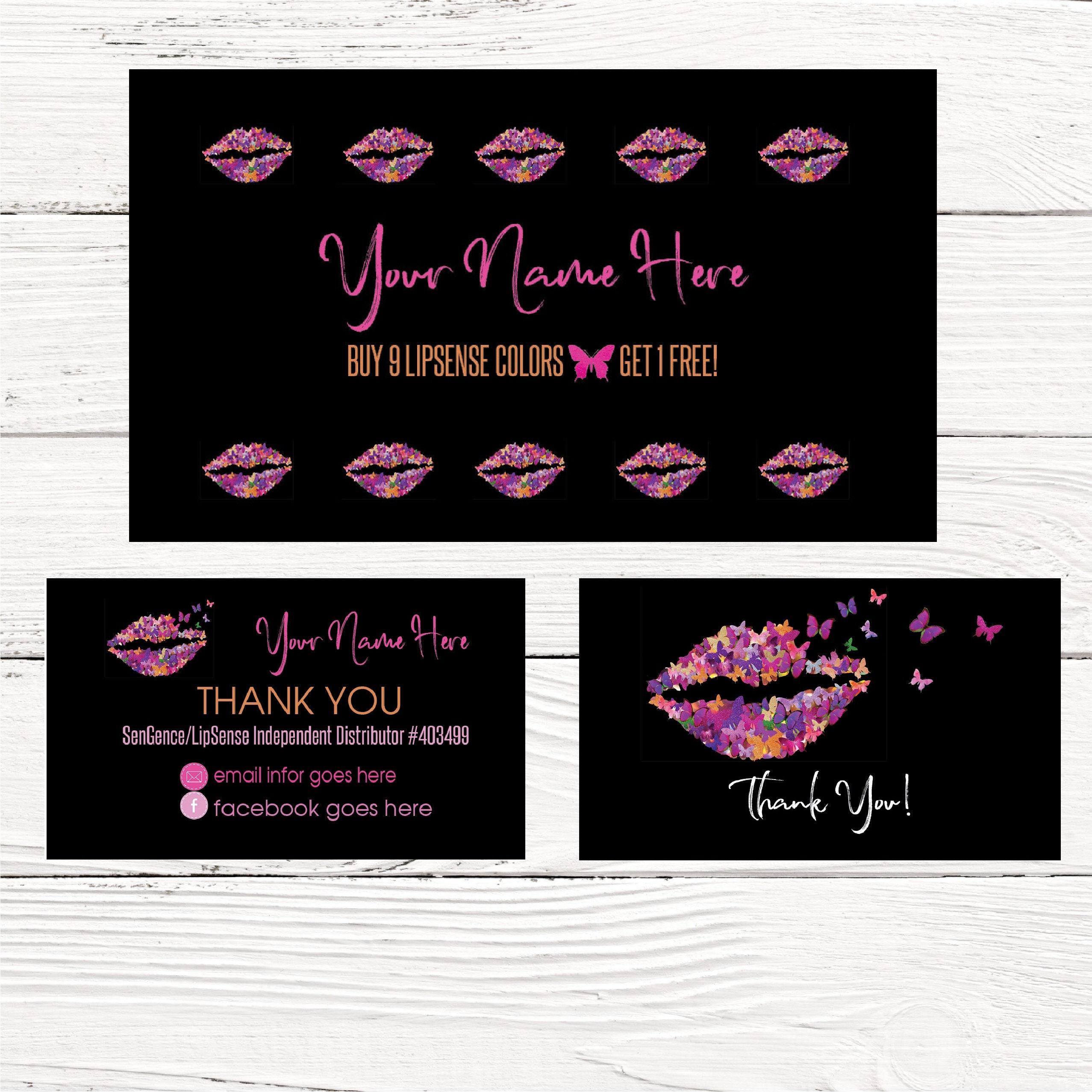 Butterfly LOYALTY Card LIPSENSE SeneGence Business Cards
