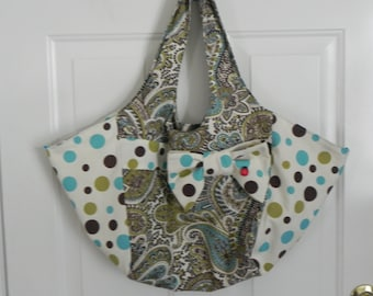 Paisley and Polka dots MARKET BAG