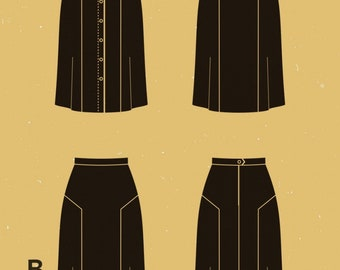 Deer and Doe paper Dressmaking pattern ' Azara ' skirt.