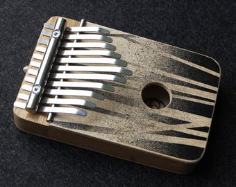 NOIR - electric kalimba G major pentatonic - thumb piano - natural toys - wooden toys - music gift - music instrument